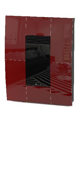 Poêle à granules A10 COMPACT GLASS bordeaux