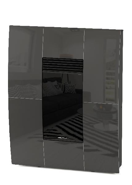 Poêle à granules A10 COMPACT GLASS gris