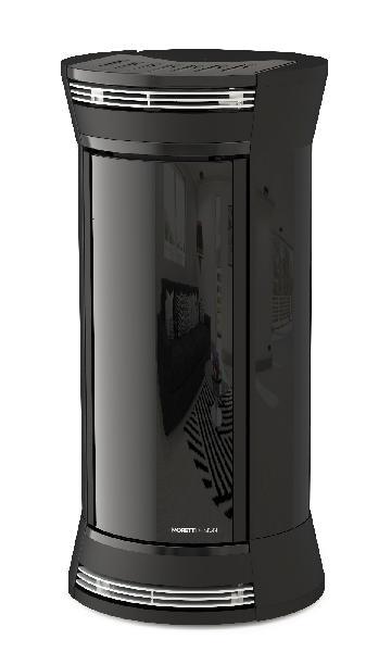 Poêle à granules A11 CLEISSIDRA GLASS noir