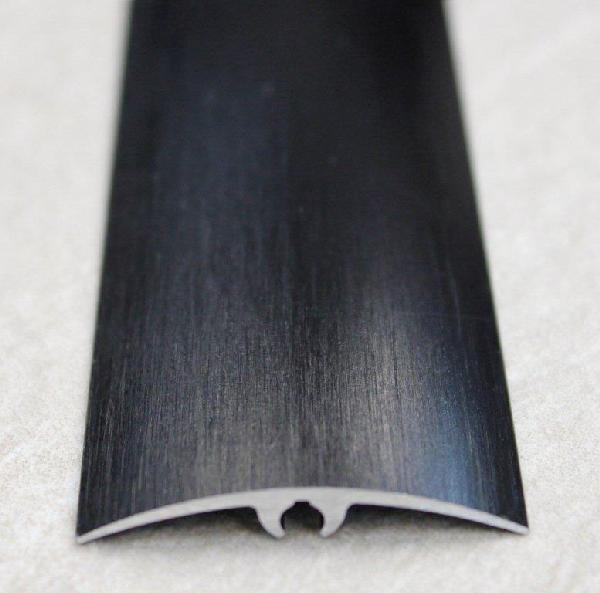 Seuil inclinable alu anodisé noir brossé 42mm 2m