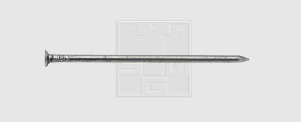 Pointe tête plate brute Ø3,8x100mm boite 1Kg