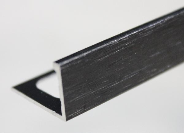 Equerre alu noir brossé 2,5m H.10mm