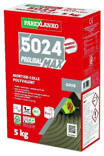 Mortier colle PROLIMAX+5024 gris sans poussière paquet 5kg
