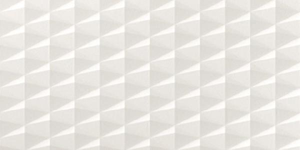 Faïence 3D WALL DESIGN flash white rectifié 40x80cm Ep.10mm