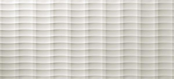 Faïence 3D WALL DESIGN plot white rectifié 50x110cm Ep.11mm