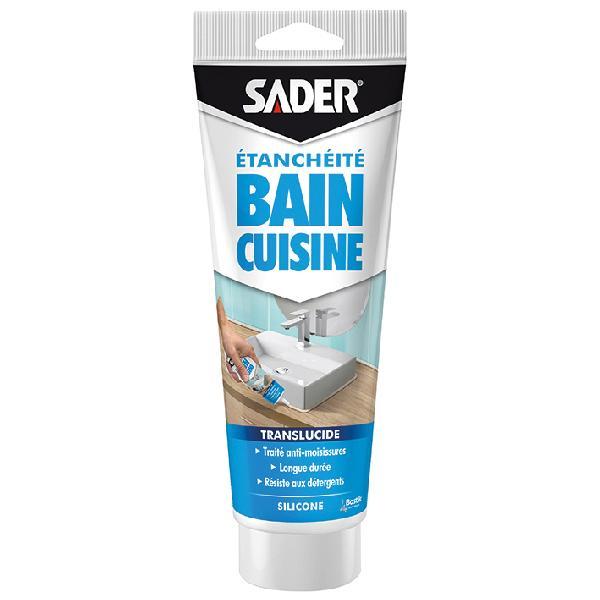 Mastic sanitaire SADER silicone translucide tube 200ml