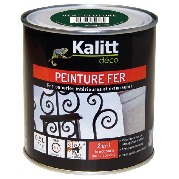 Peinture antirouille KALITT fer brillant vert 0,5L