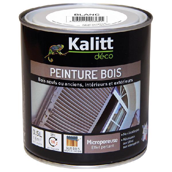 Peinture bois KALITT satinée blanc 0,5L