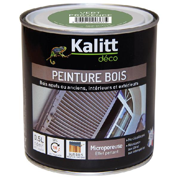 Peinture bois KALITT satinée vert provence 0,5L