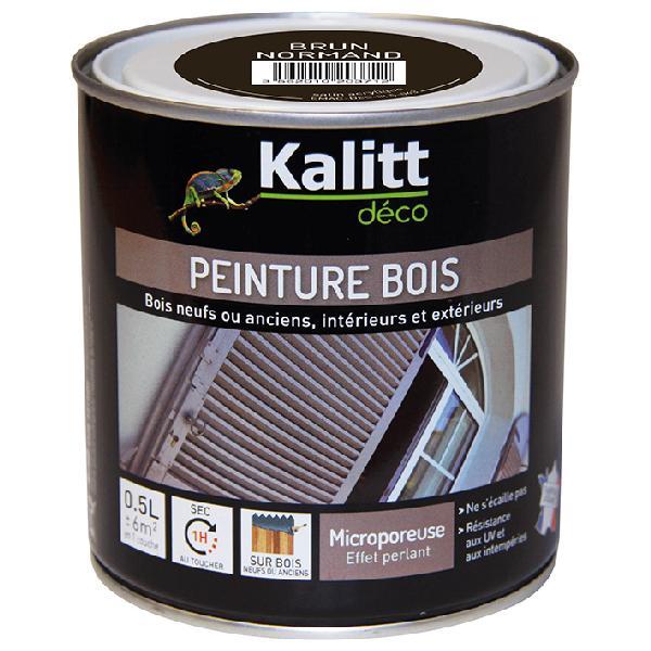 Peinture bois KALITT satinée brun normand 0,5L