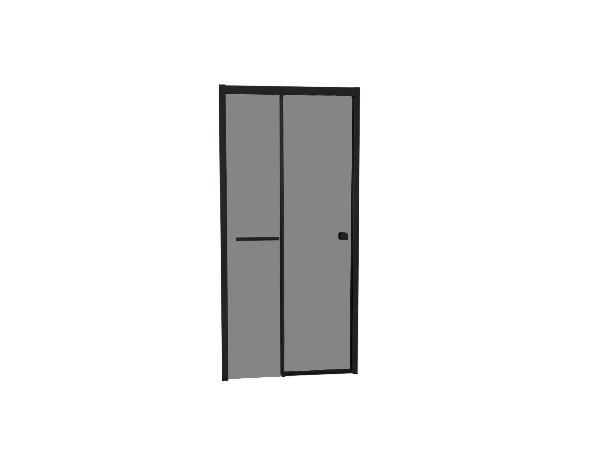 Porte douche TAHITI coulissante 100x200cm Ep.8mm noir fumé