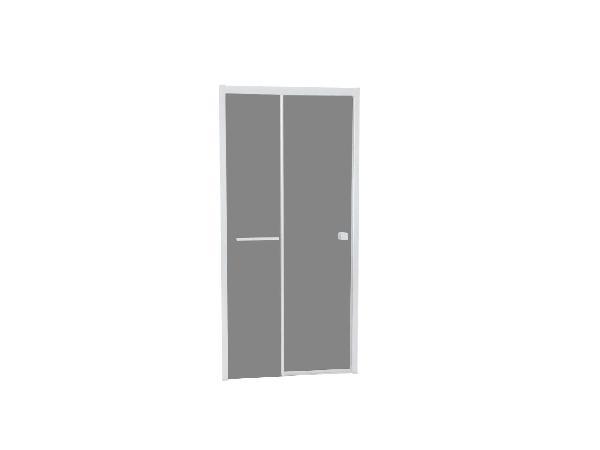 Porte douche TAHITI coulissante 100x200cm Ep.8mm blanc fumé