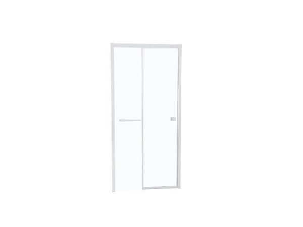 Porte douche TAHITI coulissante 140x200cm Ep.8mm blanc