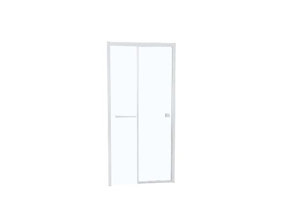 Porte douche TAHITI coulissante 160x200cm Ep.8mm blanc