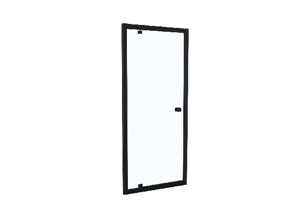 Porte douche TAHITI pivotante 80x200cm Ep.8mm noir mat