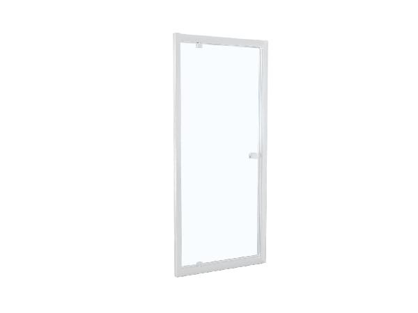 Porte douche TAHITI pivotante 80x200cm Ep.8mm blanc
