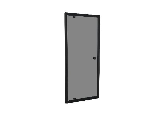 Porte douche TAHITI pivotante 90x200cm Ep.8mm noir fumé