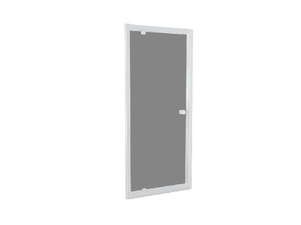 Porte douche TAHITI pivotante 100x200cm Ep.8mm blanc fumé
