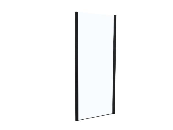 Côté fixe pour porte de douche TAHITI 90x200cm Ep.8mm noir mat