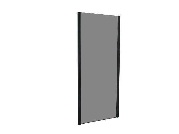 Côté fixe pour porte de douche TAHITI 90x200cm Ep.8mm noir fumé