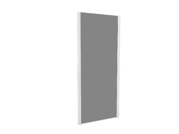 Côté fixe pour porte de douche TAHITI 100x200cm Ep.8mm noir mat