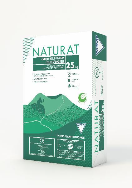 Ciment NATURAT CEM II/A-M (LL-P) 42,5 R CE+NF sac 25kg