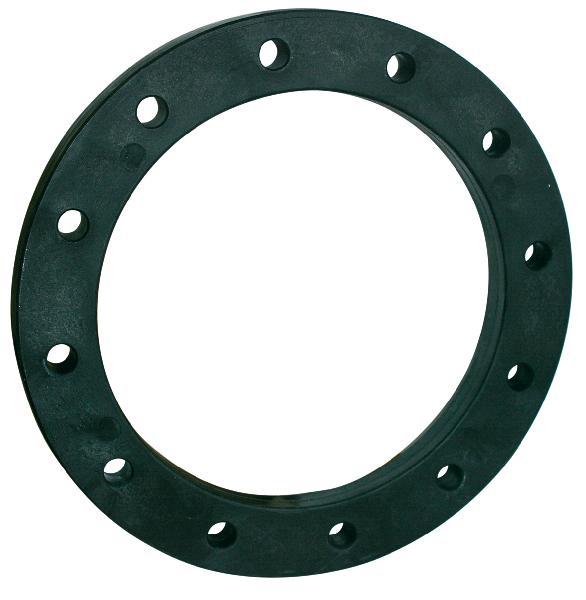 Bride acier revêtu polypropylène DN200 pour collet Ø200 ISO PN16