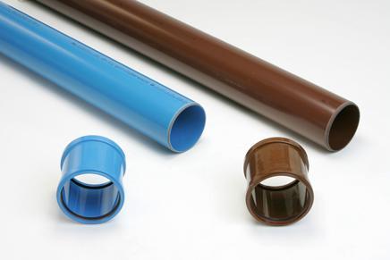 Tuyau PVC assainissement SN12 Ø160 mâle-mâle 3m marron