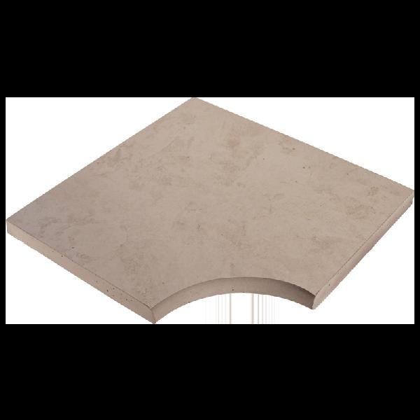 Angle droit NASHIRA 50x50cm Ep.3,5cm aquitaine