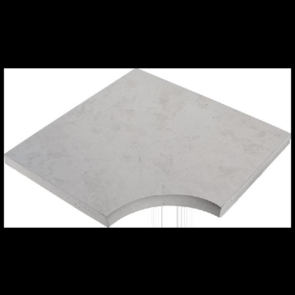 Angle droit NASHIRA 50x50cm Ep.3,5cm ardèche