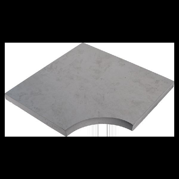 Angle droit NASHIRA 50x50cm Ep.3,5cm gris minéral nuancé