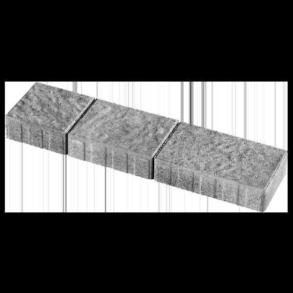 Pavé QUEBEC brut 3 formats gris nuancé Ep.6cm