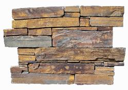 Parement ardoise sur ciment GJ028 agrafe 15x60cm Ep.25-35mm multicolor