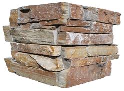 Chaine angle quartzite sur ciment GJ125agrafe 15x60cm Ep.25-35mm jaune