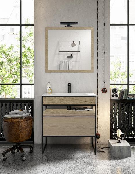 Meuble salle de bain TIG 1 vasque 80 bambou