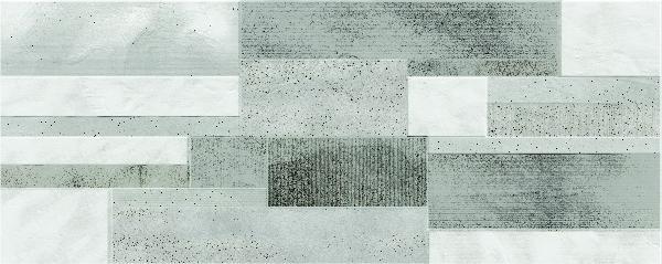Faïence décor CROSSOVER drywall grey mat satiné 20x50cm Ep.7mm