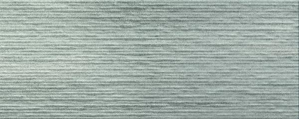 Faïence décor CROSSOVER groove grey mat satiné 20x50cm Ep.7mm