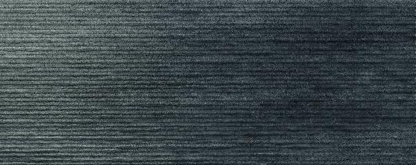 Faïence décor CROSSOVER groove black mat satiné 20x50cm Ep.7mm
