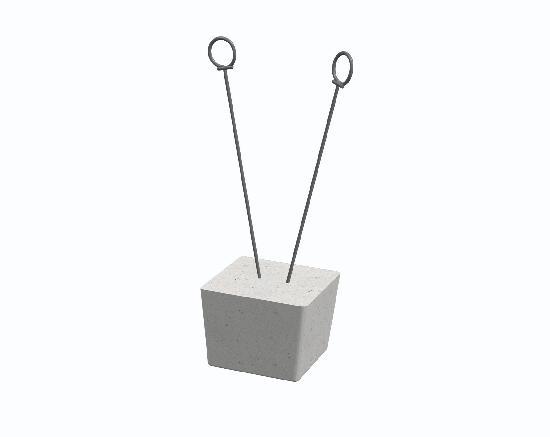 Taquet avec boucles de ligature béton enrobage:30mm sachet 250