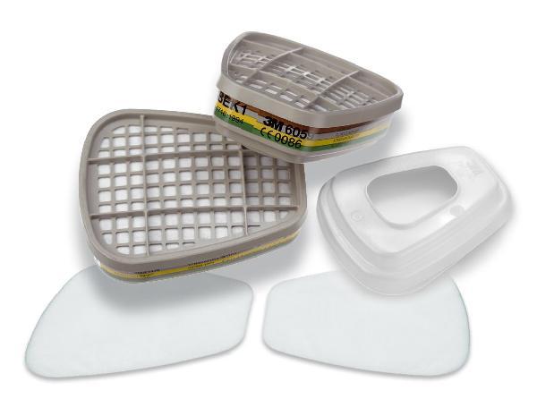 Filtre antipoussières et antigaz A2P2 ABEK1 P3 kit