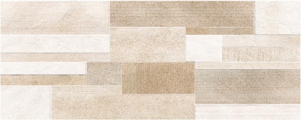 Faïence décor CROSSOVER drywall beige mat satiné 20x50cm Ep.7mm