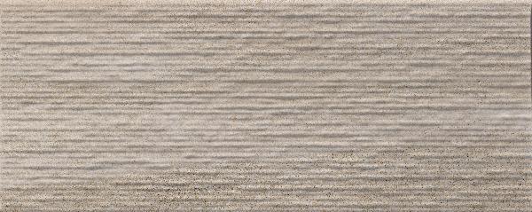 Faïence décor CROSSOVER groove beige mat satiné 20x50cm Ep.7mm