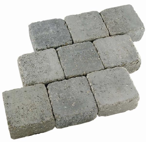 Pavé CAROSOL 10,5x10,5cm gris porphyre Ep.4cm