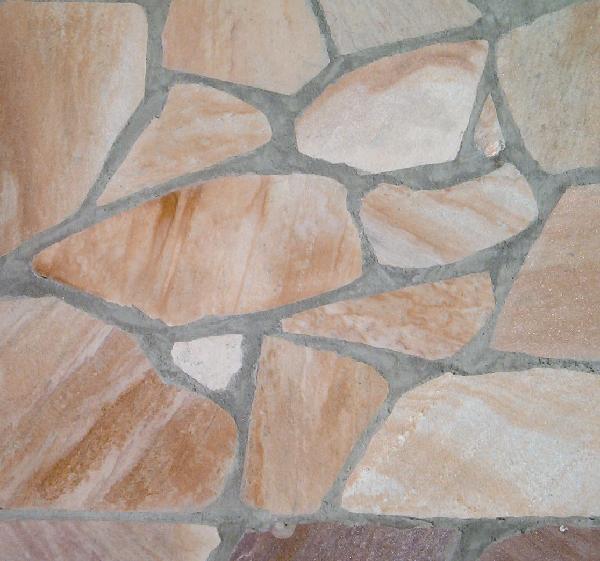 Pierre naturelle quartzite SAO TOME opus incertum jaune ep.20/35mm