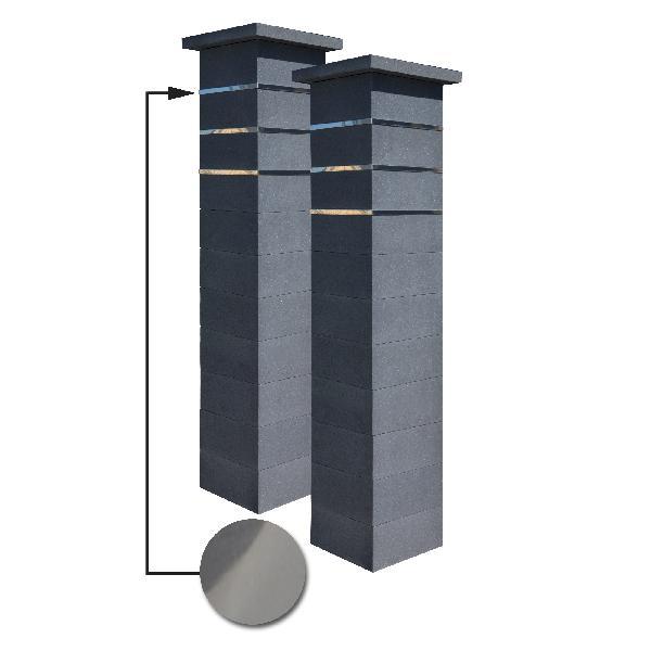 Kit 2 piliers PLATINUM dark + 3 inserts lisse 188,7cm