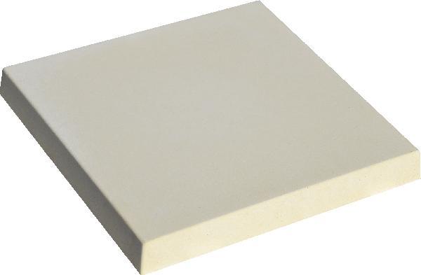Chapeau de pilier plat PIERRE LISSE 40x40 crème