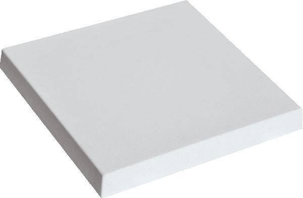 Chapeau de pilier plat PIERRE LISSE 50x50 gris