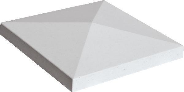 Chapeau de pilier pointe de diamant PIERRE LISSE 40x40 gris