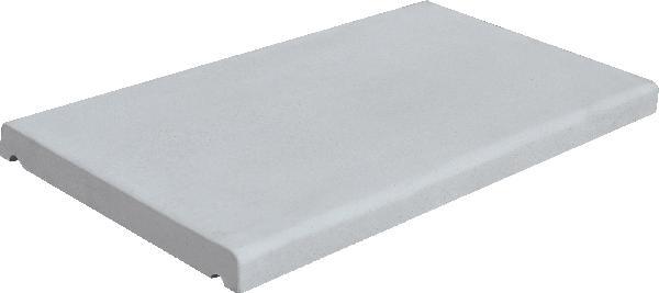 Couvertine PIERRE LISSE ECO plat 49x28cm gris