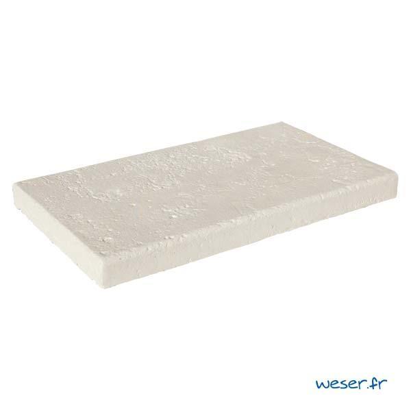 Couvertine VIEILLE PIERRE plat 49x28cm crème